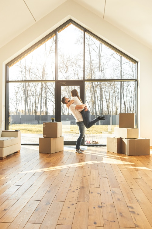 Home Purchase Excited Couple