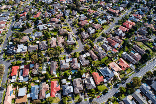 Overhead view of Houses
