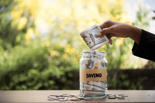 Saving Money in a Jar