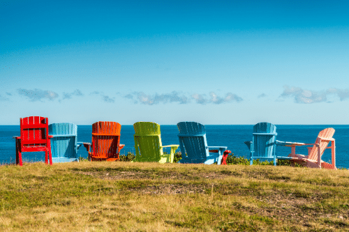 chairs by ocean