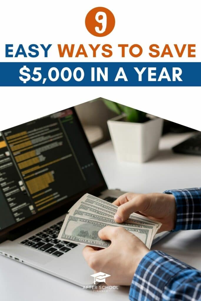 How to Save $5,000 in a Year Pinterest Pin